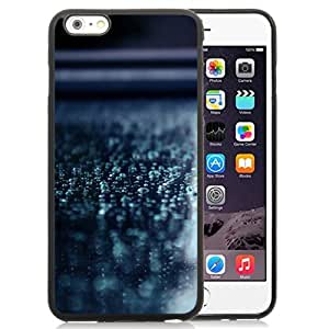 NEW Unique Custom Designed iPhone 6 Plus 5.5 Inch Phone Case With Macro Water Drops Blue Surface_Black Phone Case wangjiang maoyi