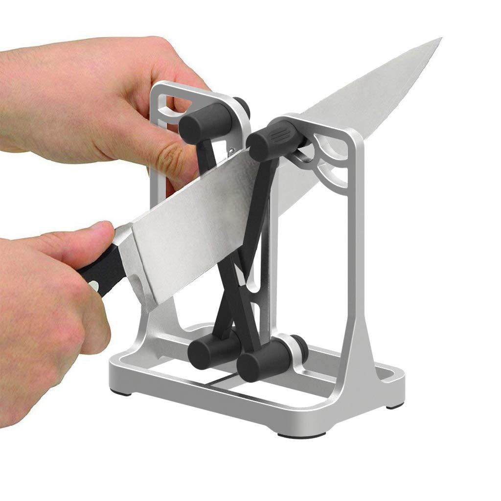 Knife Sharpener As Seen On TV - Upgrade Made of Full Metal Bracket - Sharpens & Hones & Polishes Beveled Blades, Standard Blades, Chef
