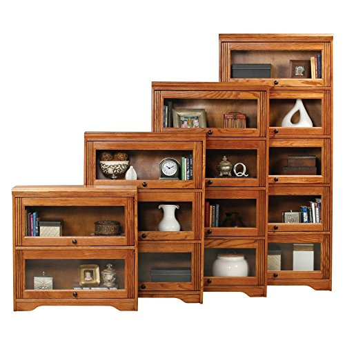 Eagle Furniture Oak Ridge Customizable 32 in. Wide Lawyer Bookcase