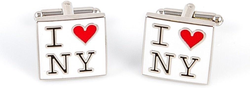 Presentation Gift Box Polishing Cloth MRCUFF New York Statue Liberty Empire State 6 Pairs Cufflinks Collar Tabs