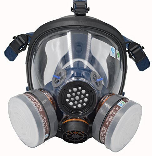 SCK Organic Vapor Respirator, Full Face Paint Respirator Gas Chemical Dustproof Pesticides Mask,Respiratory Protection by SCK