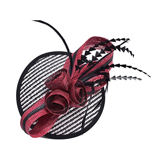 Lawliet Womens Sinamay Fascinator Cocktail Hat Wedding Kentucky Derby T221