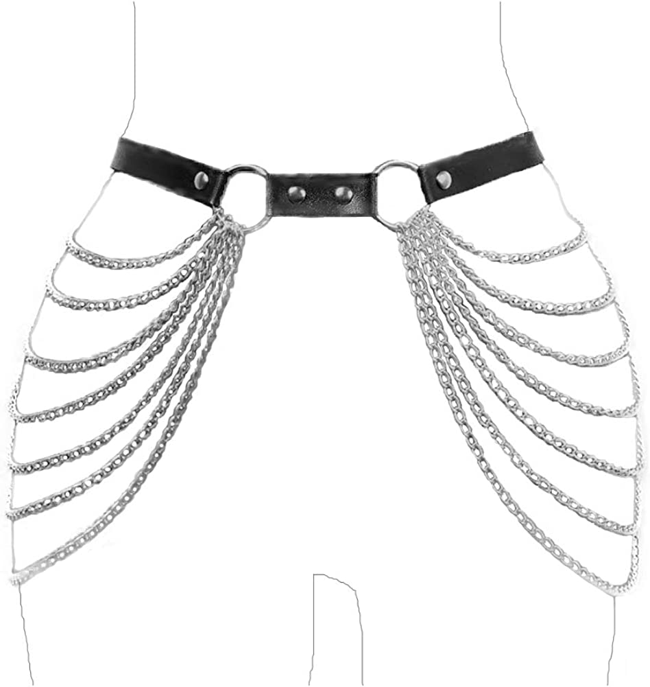 Cage Harness Body chain Top Waist Belt Women Necklace Jewelry Accessories Party
