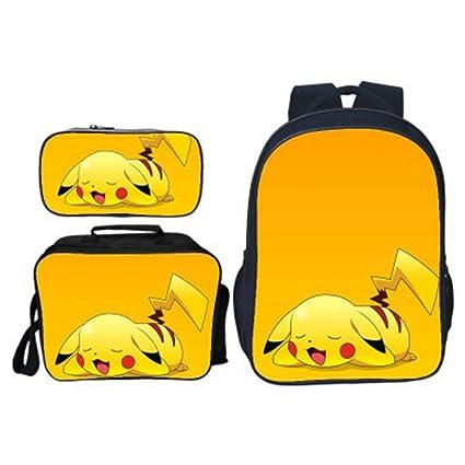 Mochila Pokemon Escolar, Mochila Pikachu De Estudiante Bolsa ...