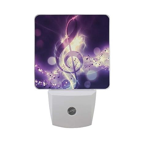 Magic Music Note Decorative Night Lights Plug In Led Night Light