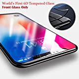 Techstudiotm 6D Tempered Glass 9H Hardness Crystal Clear Front And Back Tempered Glass Curved Glass Anti Finger Print For iPhone X/Xs- Black Rim