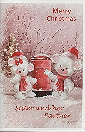 Merry Christmas Sister.Cards For Everyone Merry Christmas Sister And Her Partner