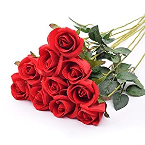 Artificial Flowers Red