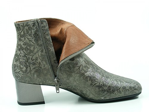 Hispanitas Penelop HI75980 Schuhe Damen Stiefeletten Ankle Boots Grau