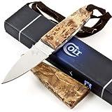 Colt Fixed Blade Hunter Knife, Brown/Wood