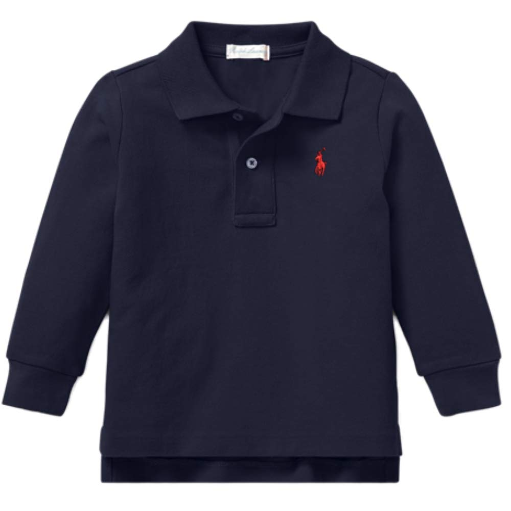 Ralph Lauren Baby Boys Girls Long Sleeved Polo t Shirt Age 6 mths French Navy