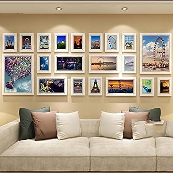 Fotowand Bilderrahmen amazon de foto wand im europäischen stil wohnzimmer wand holz