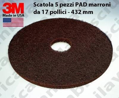 PAD 3M 5 PEZZI color Marrone da 17 pollici - 432 mm