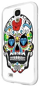 877 - Mexican Sugar Skull SkullsDesign For Samsung Galaxy S4 Mini Fashion Trend CASE Back COVER Plastic&Thin Metal