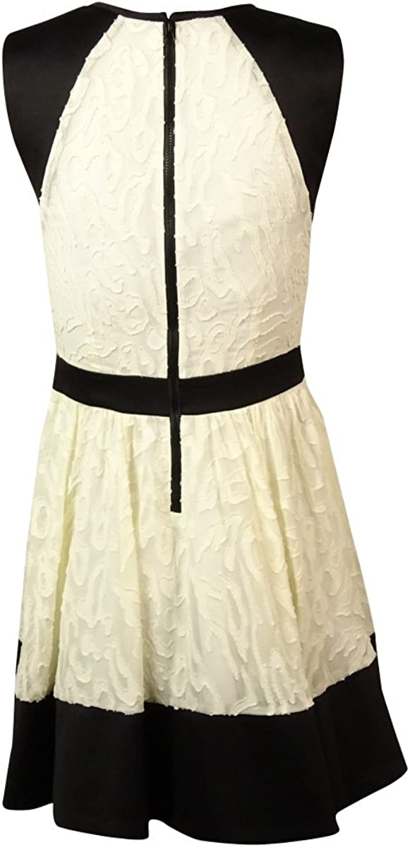 Rachel Rachel Roy Womens Mix-Media A-Line Dress 2, White