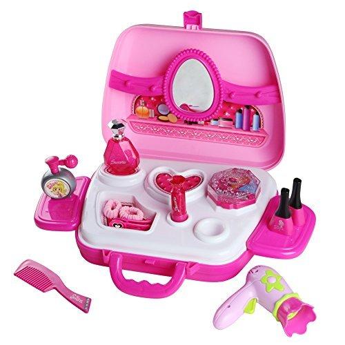 Giocattolo di Bellezza Valigetta Set Giocattolo Rosa per Bambini oltre 3 Anni