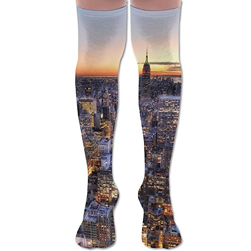 Patterned Center (LKJH New York Center Rockefeller Unisex Socks Premium Soft Fancy Design Multi Colorful Patterned for Women Men)