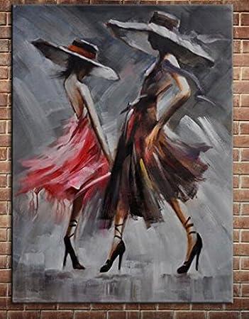 Künstler Pure Handgefertigt Eindruck Elegante Tango Flamenco Hitze Dancing  Lady Dancer Ölgemälde Auf Leinwand Wandbild Für