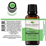 Plant Therapy Organic Peppermint Essential Oil 100% Pure, USDA Certified Organic, Undiluted, Natural Aromatherapy, Therapeutic Grade 30 mL