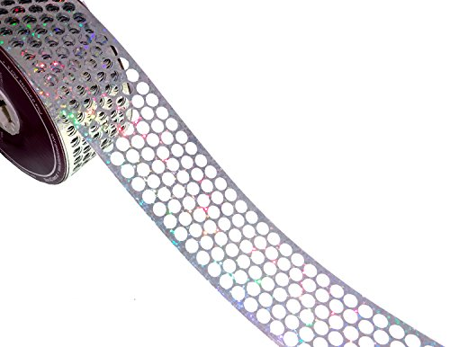 ACI PARTY AND SPIRIT ACCESSORIES Honeycomb/Punchinello Gift Wrap Ribbon Holographic (Honeycomb Ribbon)