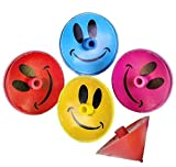 1.25'' SMILE FACE SPIN TOPS, Case of 20