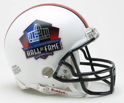 Pro Football Hall of Fame HOF Logo Riddell Mini Football Helmet - New in Riddell Box