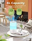4L Humidifiers for Bedroom, 7-Color Night Light