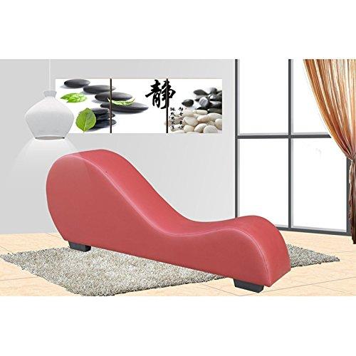 U S Pride Furniture Modern Bonded Leather Yoga Chair