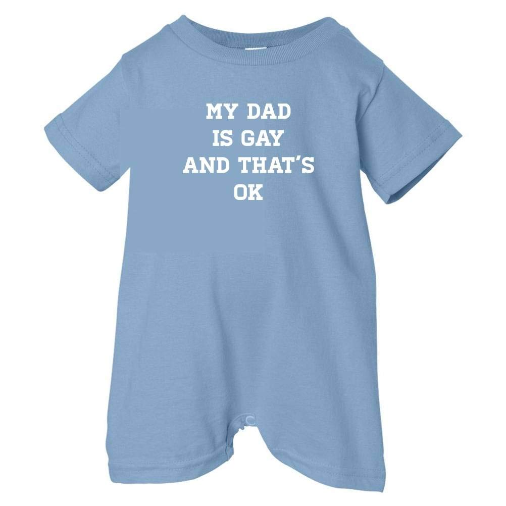Pride Universe Unisex Baby My Dad Is Gay And Thats OK T-Shirt Romper