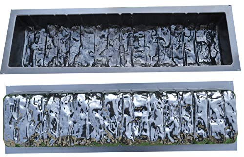 (2pcs EDGE STONE CONCRETE MOLDS Log Edging Border Mould ABS Plastic Concrete#BR05 )