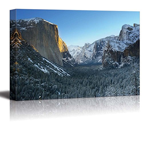 Yosemite National Park in Winter Tunnel View Home Deoration Wall Decor ing
