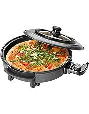 Clatronic PP 3402 Partypan om te koken, braden, stomen, ontdooien en warm te houden, 1500 Watt