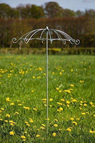Rankschirm Schwarz Ø 72cm Gartenstecker Rankstab Schirm Rosenschirm Rankhilfe