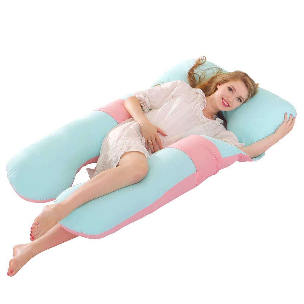 妊娠中の女性の枕の母乳育児や授乳枕のボディサポート枕横の睡眠枕 B07Q5MR1V5