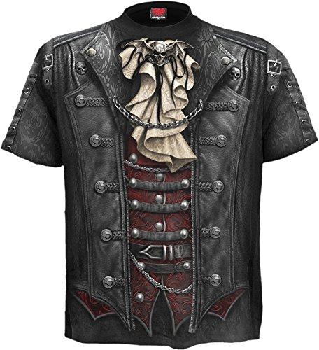 Spiral - Mens - Goth WRAP - Allover T-Shirt Black - XL