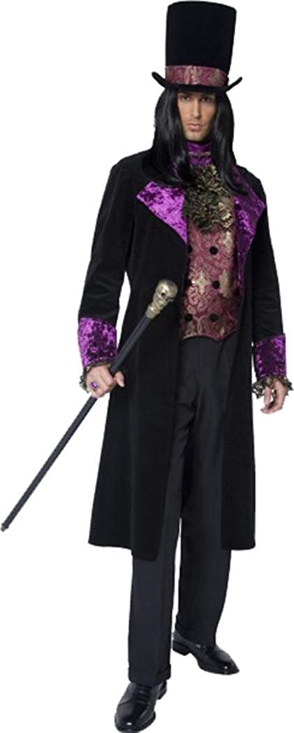 X Large Smiffy's Mens Halloween Fancy Dress Party Outfit Male The Gothic Count Costume Black