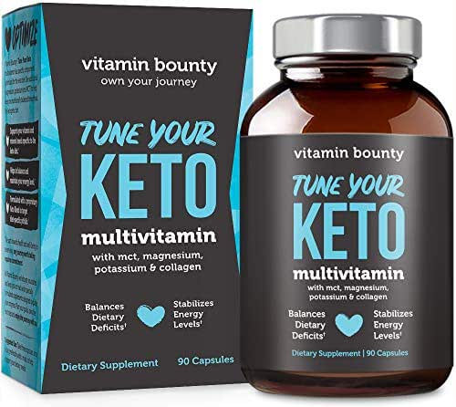 Tune Your Keto - Ketogenic Multivitamin + Electrolytes with MCT, Collagen, Magnesium and Potassium