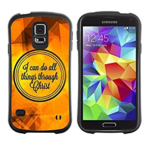 Paccase / Suave TPU GEL Caso Carcasa de Protección Funda para - BIBLE I Can Do All Things Through Christ - Samsung Galaxy S5 SM-G900