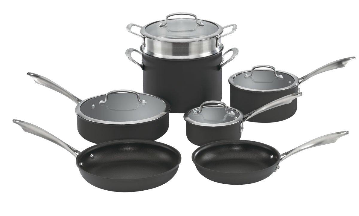 Cuisinart DSA-11 Dishwasher Safe Hard-Anodized 11-Piece Cookware Set