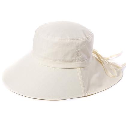c4ea989b643 ... Siggi Summer Flap Cover Cap Cotton UPF 50+ Sun Shade Hat with Neck Cord  Wide ...