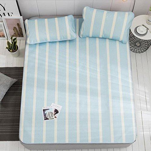 GX&XD Simple Striscia Summer sleeping mat,Printed Bed-mat for summer Summer...