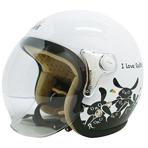ダムトラックス(DAMMTRAX) ジェットヘルメット CARINA P.WHITE-RABBIT レディースフリー(57~58cm) 生活用品 インテリア 雑貨 バイク用品 ヘルメット 14067381 [並行輸入品] B07L7NXP3V