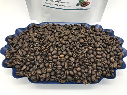 2-LBS SUPER FRESH ROASTED – TANZANIA PEABERRY COFFEE (in a FREE BURLAP BAG) – Order Today/ROASTED TODAY – Beautiful Medium/Dark, Whole Bean – SUPER SWEET – a Perfectly Developed Roast – BEST TASTES by Smokin Beans (Image #4)'