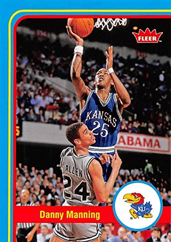 Danny Manning Signed (Danny Manning Basketball Card (Kansas Jayhawks) 2013 Fleer Retro)