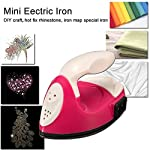JuiciaTrendz Mini Eectric Iron DIY Craft Hot fix Rhinestone iron map Special Iron portable traveling for Patchwork quilt picture cloth paste