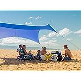 Neso Tienda Tents Grande Beach, 2,1 m (7 pies) de Altura, 2,7 m (9 pies) x 2,7 m (9 pies), Esquinas reforzadas y un Bolsillo más frío (Color)