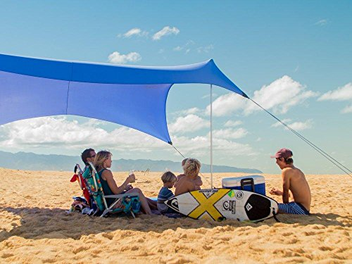 Neso Tents Grande Beach Tent, 7ft Tall, 9 x 9ft, Reinforced Corners and Cooler Pocket(Periwinkle Blue)