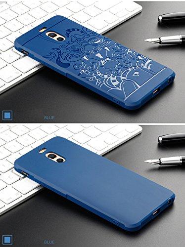 SMTR Meizu M6 Note Funda Silicona, Meizu M6 Note Funda Gel Suave TPU Case - Carcasa Resistente a los Arañazos para Meizu M6 Note -Negro Azul