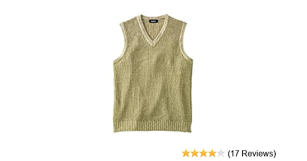 02a3419141850 KingSize Men s Big   Tall Shaker Knit V-Neck Sweater Vest