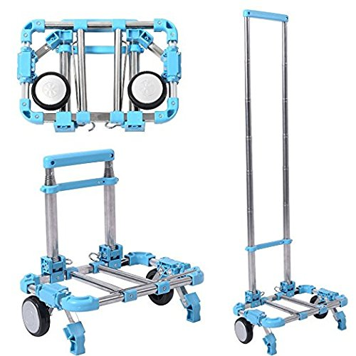 Shopping Trolley Luggage Bag With Wheels (Blue) - 3